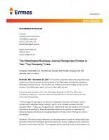 """The Washington Business Journal Recognizes Emmes in Two """"Top Company"""" Lists"""