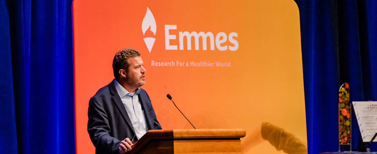 Emmes has conducted over 1000 clinical trials, often publishing and presenting the